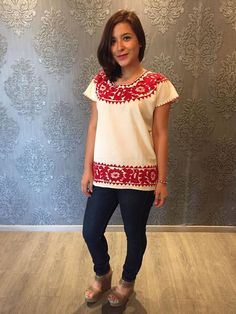 Mexican blouse blusa mexicana frida kahlo cinco de mayo day of the dead mexican…