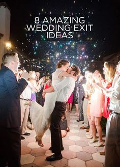 Aside from the fabulous photos ops, your wedding exit is the grand finale to one of the most spectacular days of your life. Check out these 8 amazing wedding exit ideas: http://www.colincowieweddings.com/articles/ceremony-reception/8-amazing-wedding-exits