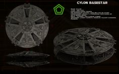 Cylon Basestar (TOS) ortho [updated] by unusualsuspex.deviantart.com on @deviantART