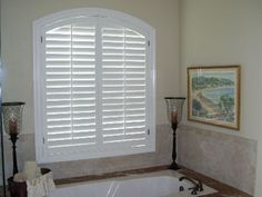 Image result for plantation shutters with arch window