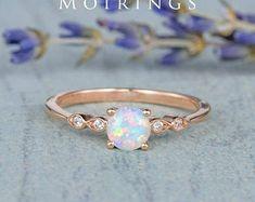 HANDMADE RINGS & BRIDAL SETS by MoissaniteRings on Etsy Bridal Ring Sets, Handmade Rings, Opal, Gold Rings, Rose Gold, Engagement Rings, Etsy, Jewelry, Enagement Rings