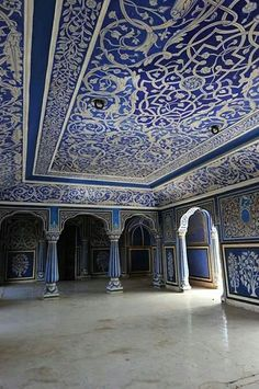 Blue & White Moon palace Jaipur India by Ashraf Adil Indian Architecture, Beautiful Architecture, Beautiful Buildings, Architecture Details, Beautiful Places, Architecture Sketches, Minimal Architecture, Dream Moon, Blue Dream