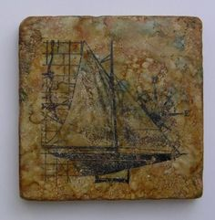 I love working with these tumbled tiles to make coasters. I like how they feel so substantial and alcohol inks work beautifully on them. Alcohol Ink Tiles, Alcohol Ink Crafts, Alcohol Ink Painting, Alcohol Inks, How To Make Coasters, Diy Coasters, Ceramic Tile Crafts, Fun Crafts, Paper Crafts