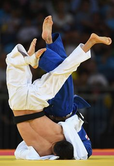 #RIO2016 Best of Day 1 - Diyorbek Urozboev of Uzbekistan competes against Amiran Papinashvili of Georgia in the Men's 60 kg Bronze Medal B contest on Day 1 of the Rio 2016...