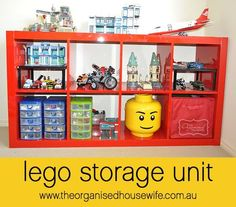 Lego storage -- I didn't know those shelves fit so perfectly in the Expedit shelf! Only 7.95 at Ikea. I'll have to grab some next time!
