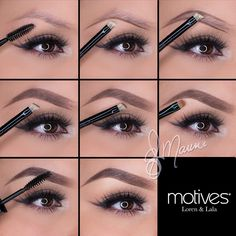 Take a look at this incredible brow tutorial by Ely Marino using Motives cosmetics by Loren Ridinger and tell us what you think! Give your brows a lift!