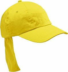 a8df9c20 Unicol Legionnaires Sun Hat Childrens Neck Protection Cap Pack Of 10 Yellow
