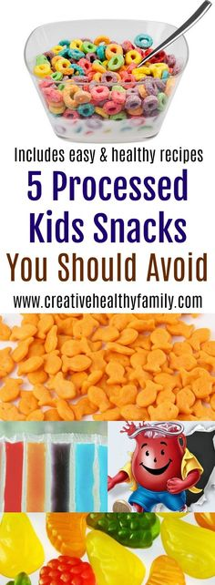 Remember that there is no such a thing as kid food, only marketing and packaging. This 5 Processed Kids Snacks You Should Avoid post will give you creative and healthy homemade alternatives. Healthy Meals For Kids, Easy Healthy Recipes, Kids Meals, Real Food Recipes, Healthy Snacks, Snacks Kids, Frugal Recipes, Fast Recipes, Eat Healthy