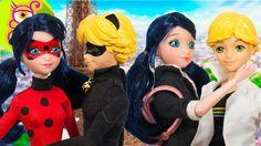 Muñecas de Ladybug, Cat Noir, Marinette y Adrien de 26 cm - Prodigiosa: ...