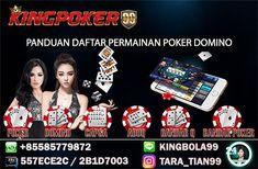 Judi Situs Poker Online Indonesia dengan aman dan nyaman tentu nya bisa anda coba mainkan dan temukan di agen judi poker online uang asli indonesia KINGPOKER99, hanya dengan uang 10 ribu rupiah, anda dapat menikmati semua jenis permainan hanya dalam 1 USER ID. Layanan online 24 jam senin - minggu.