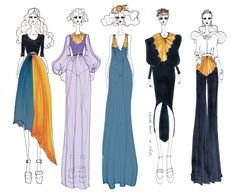 ISSA GRIMM: Concept Sketches issagrimm.com #fashionillustration #fashiondesign