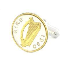 Check out the deal on Harp Coin Cufflinks (Ireland) at Cufflinks Depot
