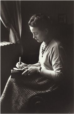 Simone de Beauvoir, Paris, 1948 // photo by Gisèle Freund