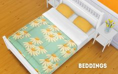[TS4] beddings20 recolors of orangemitten's sophia matress. Can be used with separated bedframes. Credit: orangemittens DOWNLOAD >> mesh required