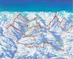 High resolution Arosa Lenzerheide trail map including terrain lift