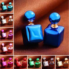 뜨거운 판매 10 색 한국 디자인 큰 진주 귀걸이 여성 패션 귀걸이 보석 스터드 진주 크리스탈 귀걸이