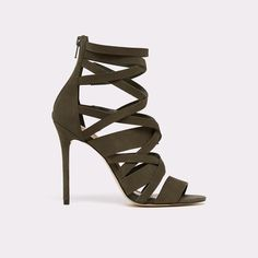 Kelany We've gone strap happy with these statement caged, high-heel sandals. Crisscross leather and back zip entry, promise the perfect combination poised and trend-forward. Aldo Shoes, New Outfits, Criss Cross, Open Toe, High Heels, Footwear, Shoe Bag, My Style, Leather