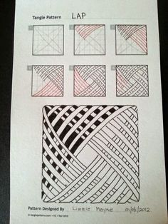 Zentangle, rustgevend tekenen: Zentangle basis patronen, stap voor stap 3