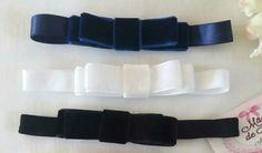 Faixa de elástico com laço Chanel em veludo  Mãos de Fada Artesanato  www.facebook.com/ mfmuzambinho