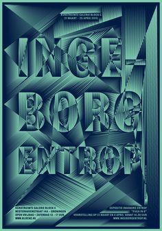 Hansje van Halem, Galerie Block C, poster for Ingeborg Entrop