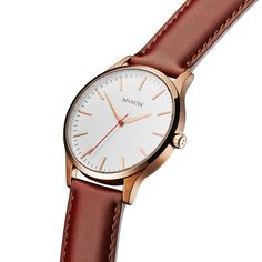 The 40 - Rose Gold/Natural Leather