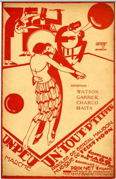 """Illustrated Sheet Music by Peter De Greef, 1924, """"Illustrated Sheet Music by Peter De Greef, """"Plum Pudding""""."""