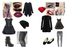 """""""Fall Style Insider"""" by nikkiannthefandomprincess ❤ liked on Polyvore featuring Lime Crime, Balmain and Demonia"""