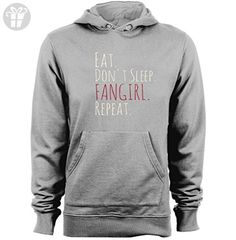 EAT, DONT SLEEP, FANGIRL, REPEAT Unisex Graphic Printed Hoodies Sweater (*Amazon Partner-Link)