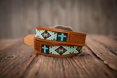 -Chevron Inlay-  Custom Beaded Belts by Busted K www.bustedkbeadwork.com