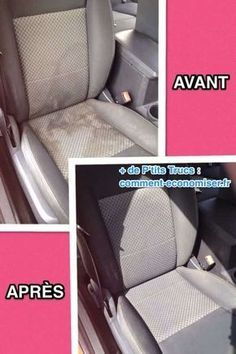 Clean the car seat with club soda/dawn/white vonegar mixture. Smart DIY tips and ideas to clean the home - 20 Cleaning Tips for Neat Freaks - One Crazy House Car Cleaning Hacks, Household Cleaning Tips, Cleaning Recipes, House Cleaning Tips, Cleaning Solutions, Spring Cleaning, Car Hacks, Cleaning Interior Of Car, Cleaning Inside Of Car