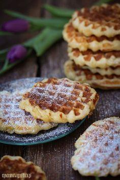 Gofry belgijskie Waffles, Pie, Breakfast, Drink, Food, Torte, Morning Coffee, Cake, Beverage