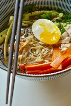 Chicken Ramen with Quick Pickled Carrots-5