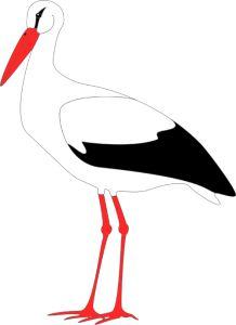 Der wirklich imposant aussehende Storch lässt sich schnell aus nur ein paar Farben Fotokarton basteln und bleibt auch über die Winterzeit da