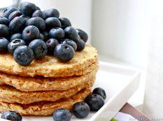 Oat Bran #Pancakes with fresh #Blueberries #recipe