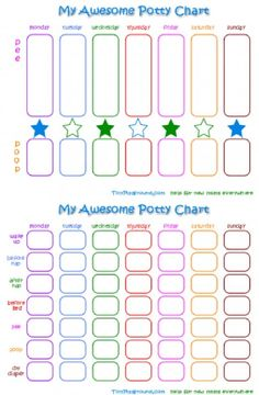 Free Potty Training Chart Printables & DIY Ideas