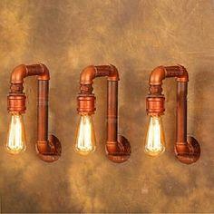 Barato Iluminação industrial do vintage americano Estilo Loft Tubulação de Água luminária Edison Lâmpada Retro Parede Arandela iluminação interior home, Compro Qualidade Lâmpadas de parede diretamente de fornecedores da China: iluminação industrial do vintage americano Estilo Loft Tubulação de Água luminária Edison Lâmpada Retro Parede Arandela
