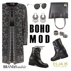 """""""Boho mood"""" by helenevlacho ❤ liked on Polyvore featuring Dries Van Noten, Charlotte Russe, MANGO, eliabshoes and brandboudoir"""