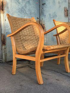 Fotel pleciony z lat 60'