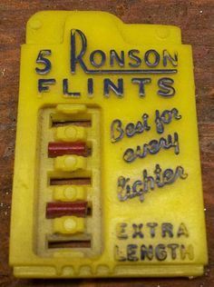 random childhood memories....daddy refilling his lighter and replacing flints. We thought smoking cigarettes was so glamorous back then ... Who knew?