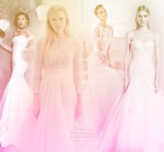 Don't miss these collections featured this week. From left: Meera Meera, Cortana, Atelier Pronovias, Mariana Hardwick Wedding Pics, Wedding Blog, Elegant Wedding Dress, Wedding Dresses, Signature Style, Getting Married, Bridal Gowns, Formal Dresses, Celebrities