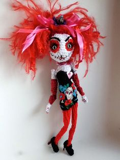 Performance Artist Marnie Scarlet dolly. Causing quite a stir.