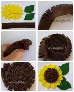 Felt Flower Bouquet, Felt Flowers, Diy Flowers, Fabric Flowers, Wire Crafts, Felt Crafts, Easy Crafts, Crafts For Kids, Paper Flowers Craft