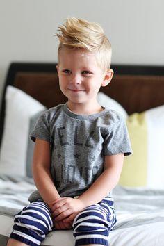 little boy's short haircut longer spikey top