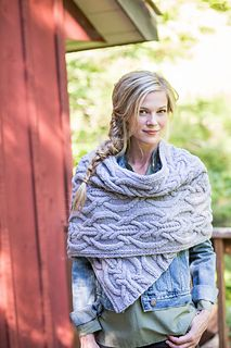 Copse is more than six feet of plush texture to keep you cozy in the chill mountain air. This chunky wrap is proof that Quarry loves to cable, yielding opulent loops and chevrons that are plump and defined. Shifts in scale and direction of the cable crossings produce beautifully balanced bold motifs. The wrap is worked flat from end to end, and a variation on I-cord at the long edges produces flat, non-curling selvedges. Choose a pale hue like Alabaster, Moonstone, or Geode (shown here) to…