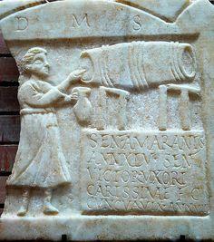 Tabernera emeritense by Becante, via Flickr Ancient Roman Food, Ancient Rome, Roman History, Art History, Merida, Masonic Symbols, Roman Sculpture, Roman Art, Early Christian
