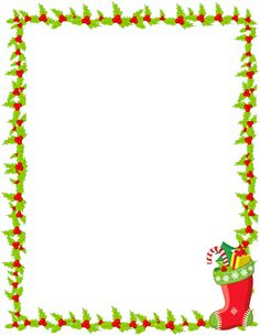 Printable Christmas stocking border. Free GIF, JPG, PDF, and PNG downloads at http://pageborders.org/download/christmas-stocking-border/. EPS and AI versions are also available.
