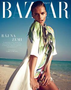 Viktoria Halenarova Models Swimwear for Bazaar Czech by Andreas Ortner