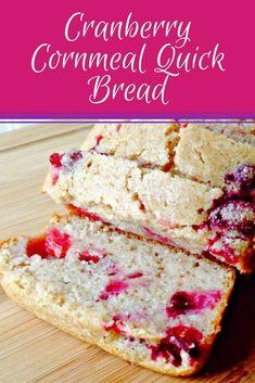 Cranberry Cornmeal Quick Bread via @merry120