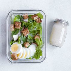 This salad capitalizes on fresh spring produce and gets a simple protein boost from hard-boiled eggs. Meal-prep this healthy lunch salad by mixing the salad base together and simmering a batch of hard-boiled eggs on the weekend. Then you'll be ready to just add one or two eggs with a drizzle of tangy vinaigrette for the simplest spring salad-to-go.