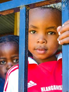 Pre-school kids in the Guguletu Township - Cape Town, South Africa